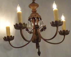 5-Light Brass & Crystal Chandelier