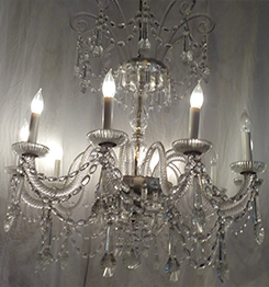 10-Light Full Crystal Chandelier, 38 H X 34 W
